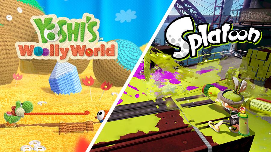 yoshis woolly world + splatoon