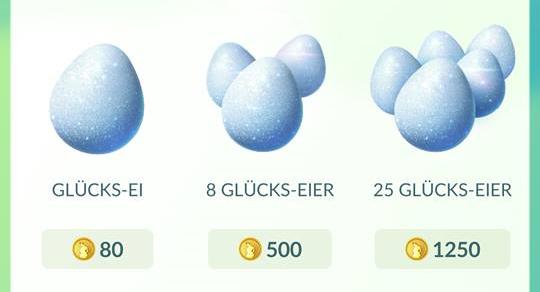 Pokémon Go Item Glücks-Ei