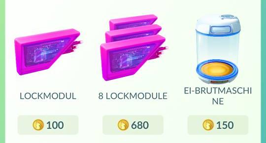 Pokémon Go Item Lockmodul
