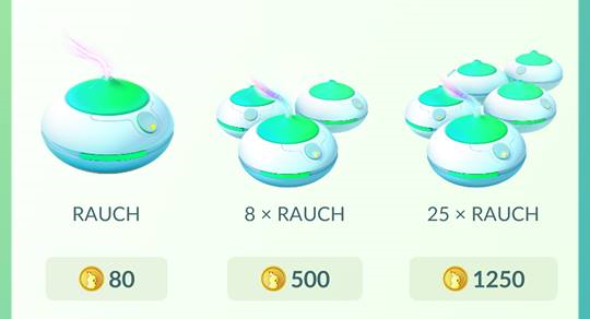 Pokémon Go Item Rauch