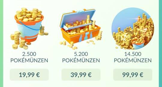 Pokémon Go Pokémünzen