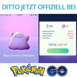 Pokémon Go – Ditto jetzt offiziell zu fangen!