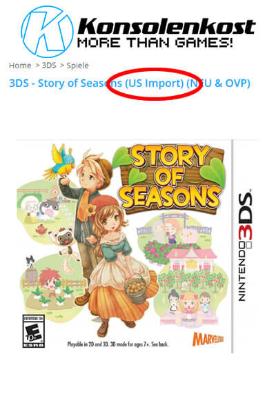 Nintendo 3DS Story of Seasons