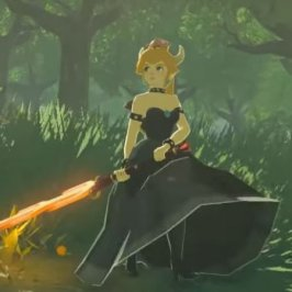 Bowsette in Zelda Breath of The Wild!
